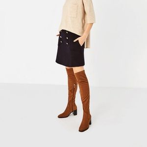 ZARA ◀️ NWT OVER THE KNEE HIGH BOOTS